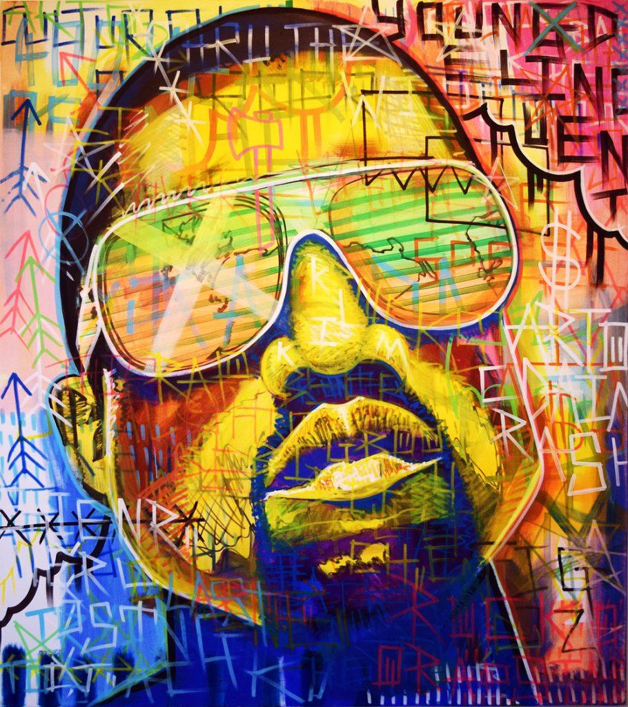 Pistache Artists Kanye Portrait